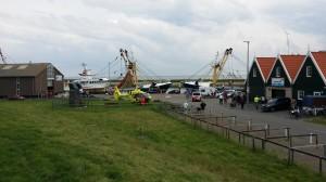Traumaheli ter plaatse op haven oudeschild Texel
